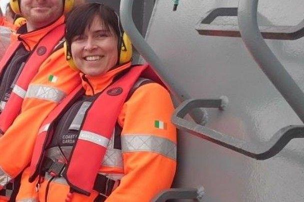 Heroic coastguard Caitríona Lucas.