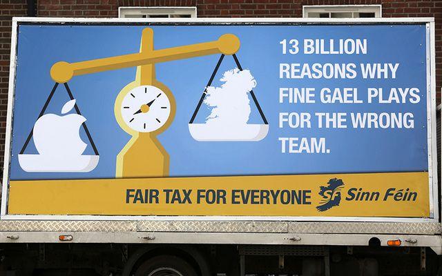 New Sinn Fein billboard opposing the Apple tax deal.