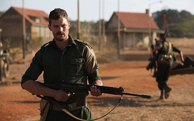 "Jamie Dornan in the new Netflix movie, ""The Seige of Jadotville."""