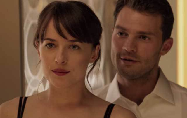 A shot from the new \'Fifty Shades Darker\' trailer.