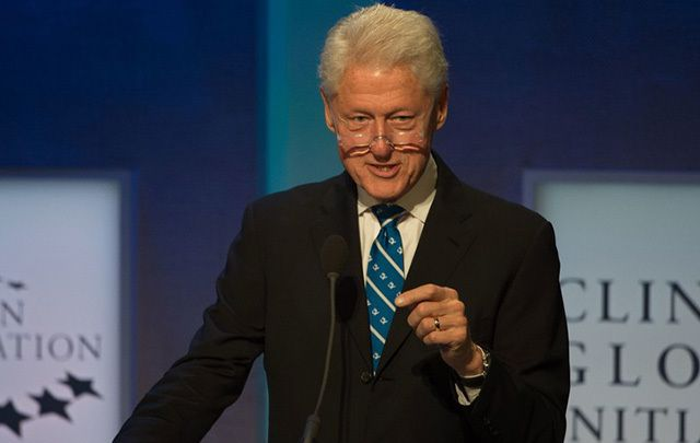 Bill Clinton speaks at the opening of the Clinton Global Initiative meeting on Monday in New York.
