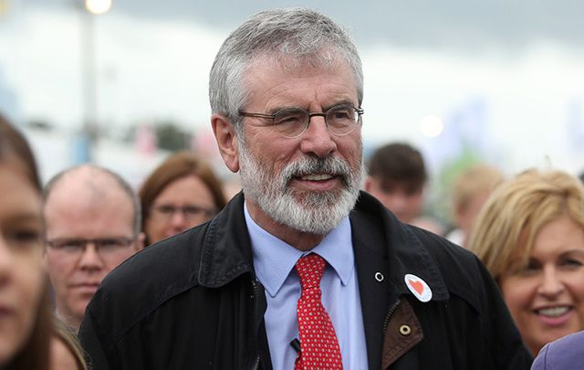 Gerry Adams, President of Sinn Fein, at the Ploughing Championship Festival this week.
