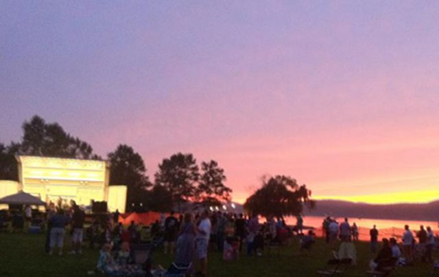 Sunset over the Hudson Valley Irish Fest