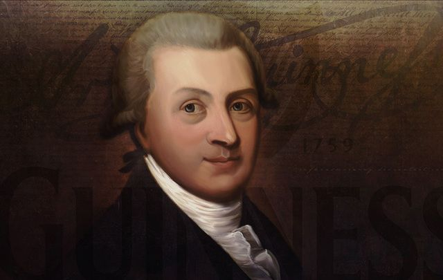 Only portrait of Arthur Guinness