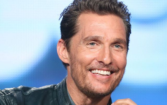 Proud of his Irish roots, Matthew McConaughey.