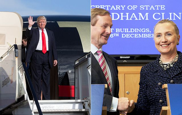 Trump and Clinton each have significant ties to Ireland, though not the sort most Irish Americans have come to expect from politicians.
