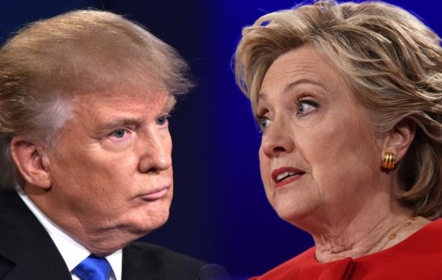 Trump vs Clinton in the first presidential debate.