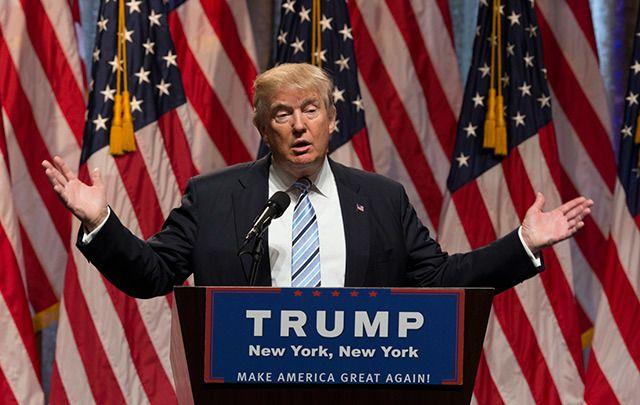 Donald Trump speaking in New York in July, 2016.