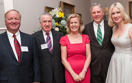 Irish Ambassador to the U.S. Anne Anderson (center) with members of the Irish American Law Society of Cleveland at last year's Irish Voice Irish Legal 100 event: Kenneth R. Callahan of Buckley King, Thomas Scanlon and Tim Collins of Collins and Scanlon, and Melissa Zujkowski of Flextronics.