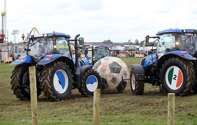 Ireland\'s latest sport: Tractor Football.