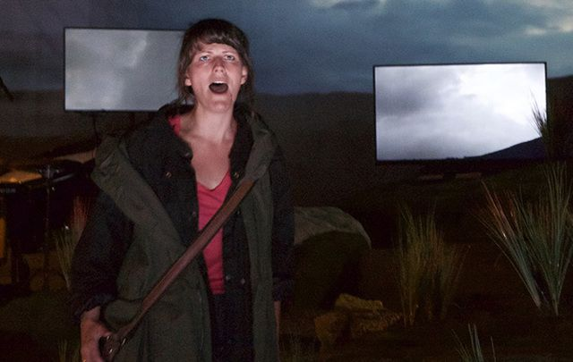 """Katherine Manley performing in """"The Hunger."""""""