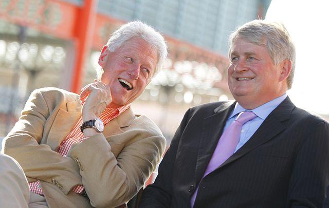 Bill Clinton and Dennis O'Brien