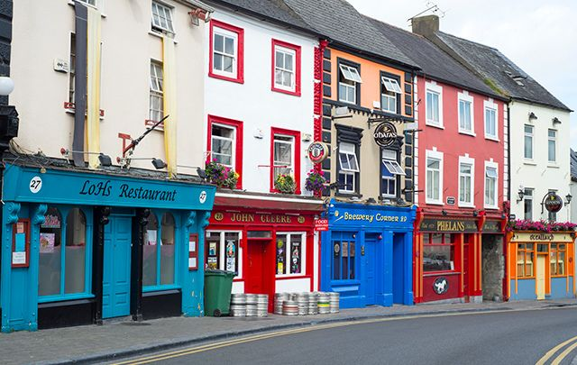Pubs along the Kilkenny City High St.