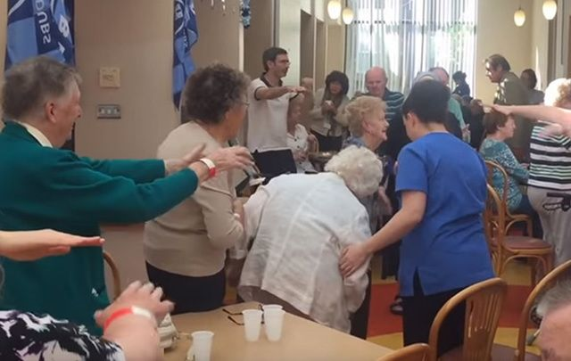 "No one puts Grandma in the corner! ""It was really wonderful and really typical of the hospice, it is such a warm, happy place — they really celebrate life here."""