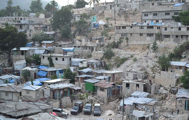 Villa Rosa in Port-au-Prince, Haiti, a densely populated area where one-third of houses were either destroyed or damaged beyond repair by the January 2010 earthquake.