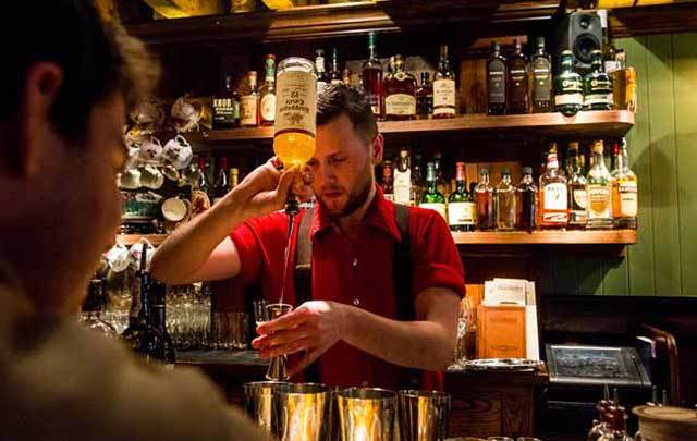 New york irish cocktail bar the dead rabbit named best in for Food bar drinking game
