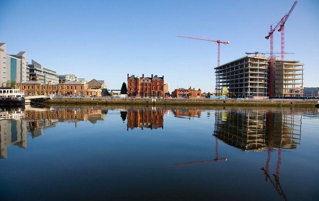 Dublin Docklands construction.