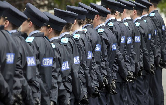 Irish police (Gardai).