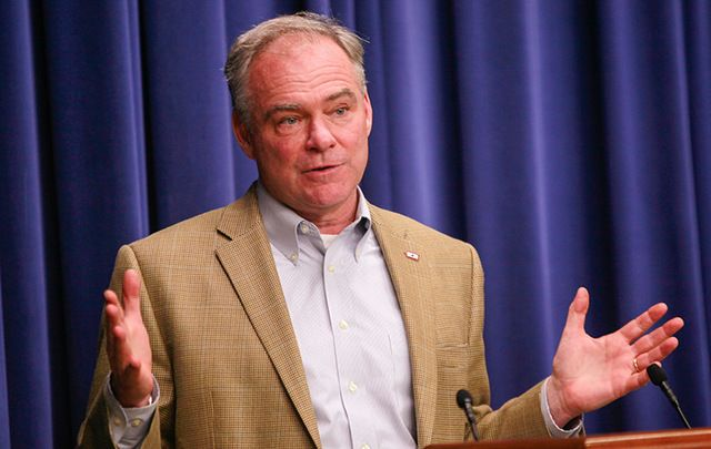 Democrat Vice Presidential candidate Tim Kaine.