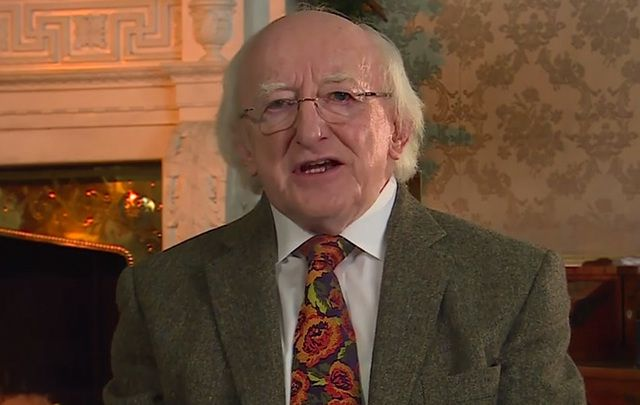 President of Ireland Michael D Higgins.