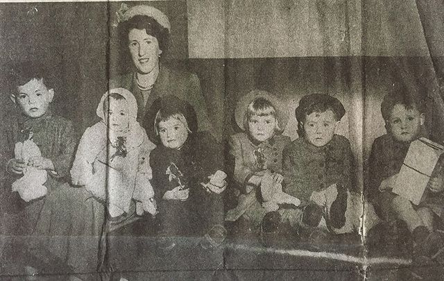 The 1950 newspaper clipping announcing the arrival of the Irish orphans.