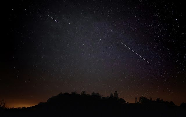 You might see as many as 20 shooting stars per hour.