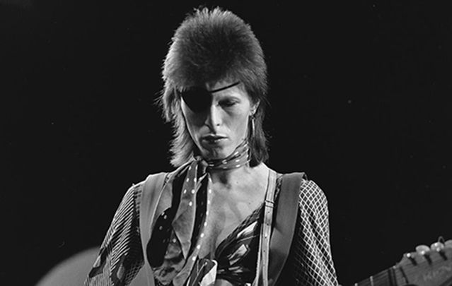 David Bowie on Top of the Pops in 1974.