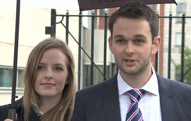 Still of Daniel McArthur and his wife Amy.