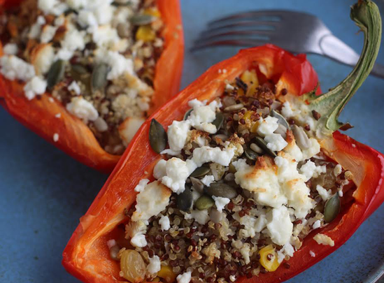Healthy recipe for stuffed peppers by Rozanna Purcell