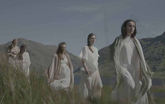 "Still from the video for ""Orphan Girl.\"""