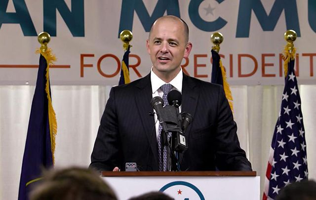 Evan McMullin, a former CIA operations officer proud of his Irish ancestry, could very well keep Utah's six electoral college votes from Donald Trump.