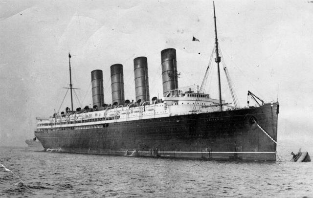 RMS Lusitania, circa 1910.