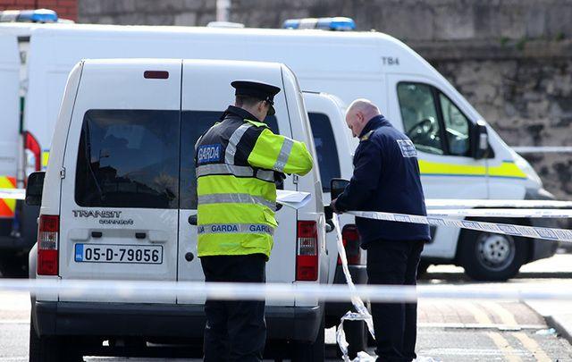 Police on scene at scene of the shooting of Martin O'Rourke in Dublin, in April 2016.