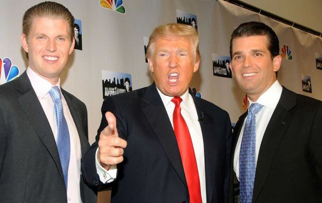 Donald Trump and his sons, Eric and Don.