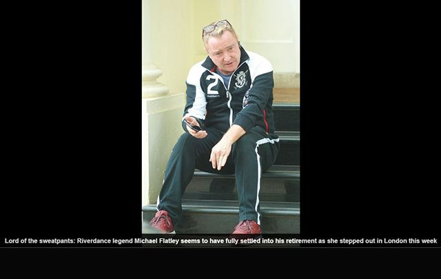 Just as they do all the time for female celebrities, the Daily Mail has published a horrid article about Lord of the Dance Michael Flatley's post-retirement bod.