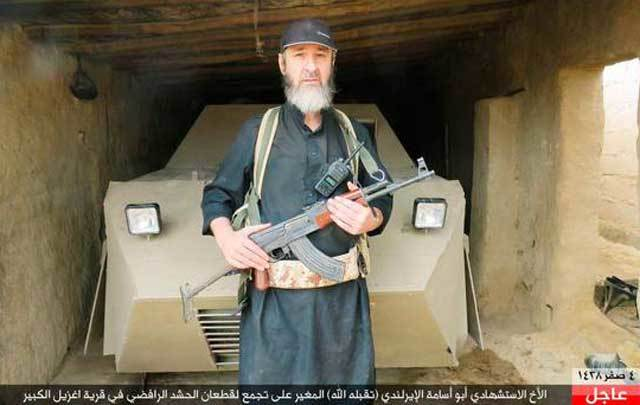The  Irish jihadist known as Khalid Kelly has reportedly died in a suicide bomb attack in Mosul.