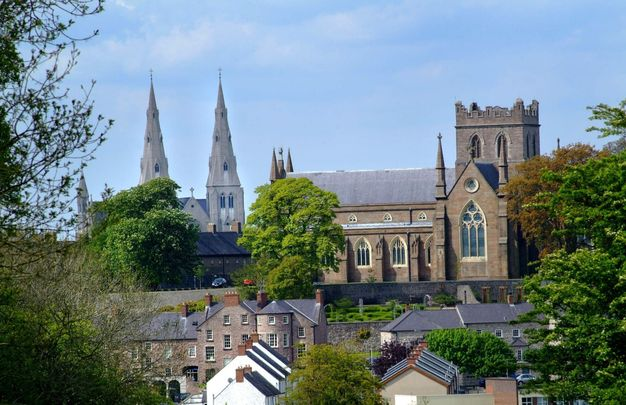 Armagh City\'s two cathedrals.