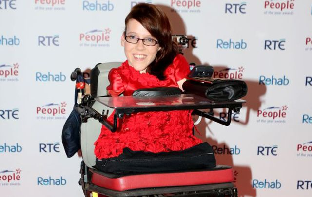 Joanne O'Riordan, the Irish woman born with no limbs.