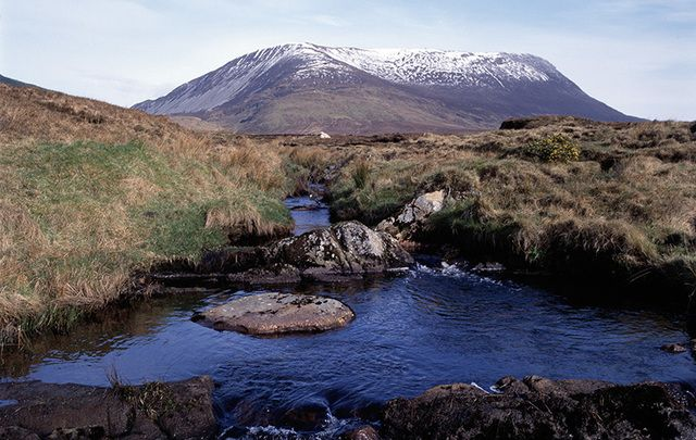 "The highlands of Donegal, in winter: The northern most county's saying is ""Up here it's different"" that is it is and certainly beautiful."