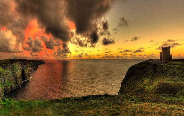 The Cliffs of Moher, in County Clare, one of Ireland\'s most visited attractions.