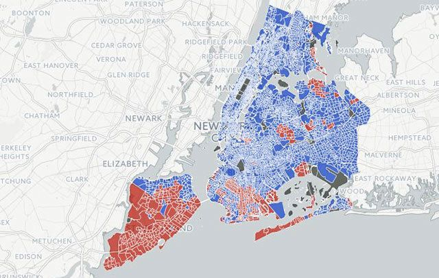 Looking at this DNAinfo map of how NYC neighborhoods voted in the election, what caught my eye was how many Irish American neighborhoods had clearly broken for Donald Trump.
