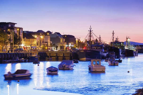 Waterford City Habour by night