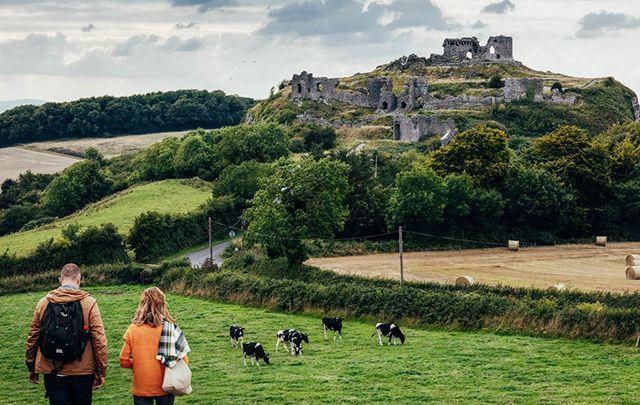 The Rock of Dunamase and Dunamase Castle.
