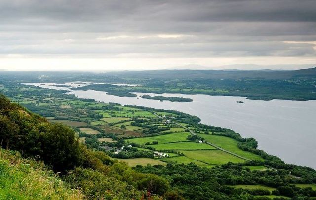 An aerial view of Co Fermanagh in Northern Ireland.