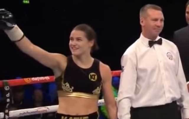 Katie Taylor opens Pro career with 3rd round stoppage in Wembley