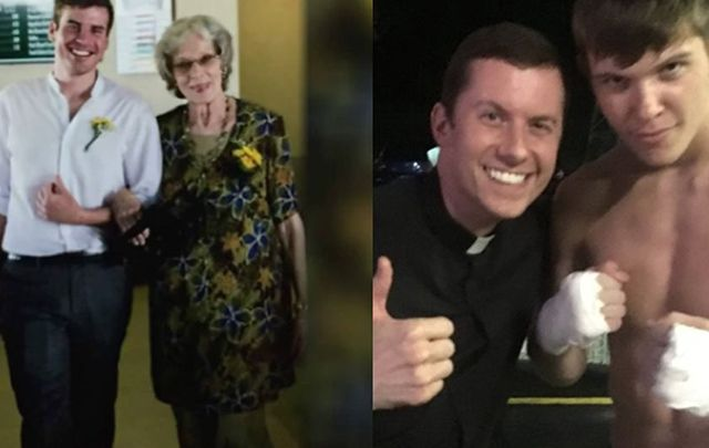 """Connor Hakes planned to honor his grandmother by singing at her funeral until he was told by his parish priest, Father Bob J. Lengerich, that because of his """"gay lifestyle"""" he would no longer be permitted to."""