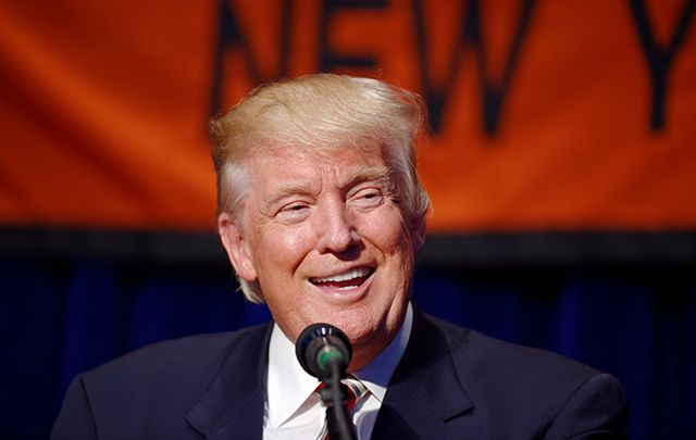 Donald J. Trump at aConservative Party of New York State event on September 7, 2016.