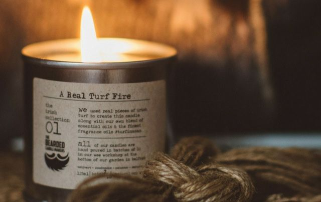 Turf fire candle.