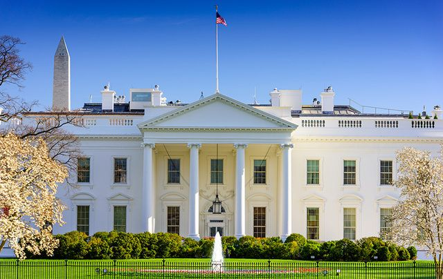 The White House, Washington DC, designed by Irishman James Hoban.