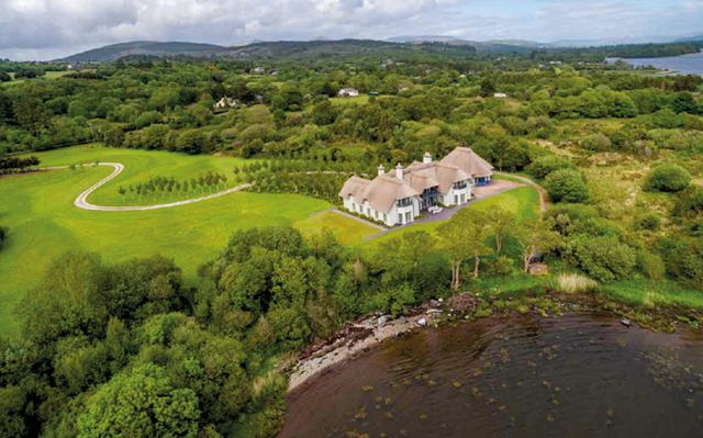 Shearwater in Co. Kerry, a thatch-roofed mansion, is among the most expensive properties sold in Ireland this year.